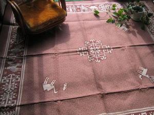 ペルシャ絨毯(綿)c-rakuda-br-300