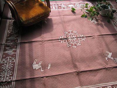 ペルシャ絨毯(綿)c-rakuda-br-400