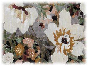 ムートンカーペット-花柄の写真-300